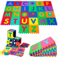 40pc Soft Foam Floor Tiles Interlocking Kids Alphabet & Number Puzzle Play Mat