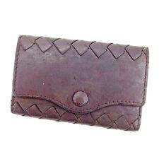 Bottega Veneta Key holder Intrecciato Brown Gold Woman Authentic Used L2036
