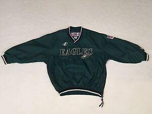 Kids Vintage Philadelphia Eagles Logo Athletic Pro Line Windbreaker Jacket - (8)