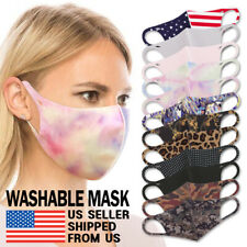 Lightweight Face Mask - Unisex Adult Washable Breathable High Quality Spandex