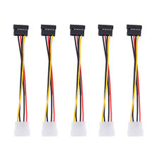 5x IDE/Molex 4-Pin Male To Serial ATA SATA 15-Pin Female Power Adapter Cable NEW