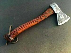 Beautiful Custom Handmade Damascus Steel Tomahawk Axe Throwing Viking Hunting US