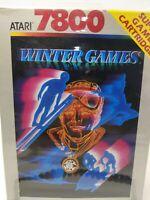 Winter Games (Atari 7800) NEW Factory Broken Sealed see photos.