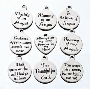 Message Charms * many more * Baby loss memorial remembrance loss of a loved one1