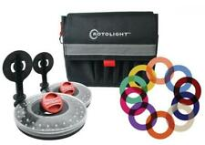 Rotolight Interview Lighting Kit with 2 HD LED Stealth Ringlights, 2 Stands...