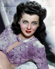 GAIL RUSSELL PURPLE SEQUINED GOWN BEAUTIFUL COLOR PHOTO BY CHIP SPRINGER