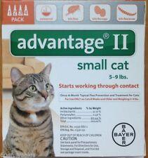 Advantage II  5-9 lbs Flea Medicine Cats 4 Pack K-9 4 Months Orange Drops Feline