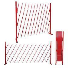 Absperrgitter MCW-B34, ausziehbar, Alu rot-weiß, Höhe 153cm, Breite 36-300cm