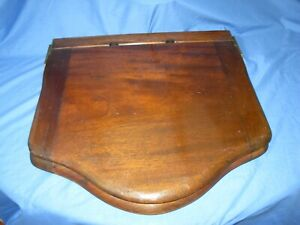 Old / Vintage Mahogany toilet seat not restored in original condition