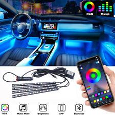 Rgb 48 Led Car Accessories Interior Atmosphere Light Strip App Bluetooth Control