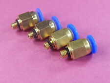4 of Male Straight Pneumatic 4mm Tube Push In M5 Quick Connect Fitting PC4-M5