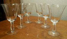 6 Fostoria Crystal Silver Flutes Stem #6037 Water Goblets Glasses UNUSED COND!