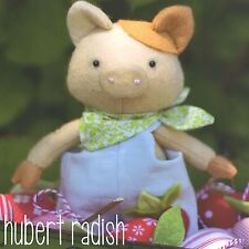 HURBERT RADISH - Sewing Craft PATTERN - Soft Toy Felt Doll Bear Rabbit