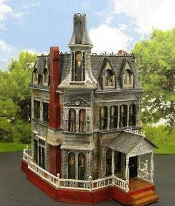 ADDAMS FAMILY HOUSE~HAUNTED HOUSE~HO SCALE BUILT BUILDING~MODEL KIT~BATES