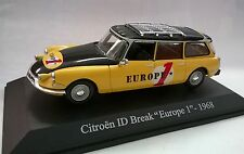 UNIVERSAL HOBBIES 1:43 CITROEN ID BREAK EUROPE 1 1968 GIALLO NERO ART 5097U