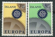 ISLANDIA EUROPA cept 1967 Sin Fijasellos MNH