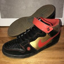 check out 53165 c921c Nike Dunk Mid Pro SB Mens Size 11.5 Money Cat Black Chile Red 314383-061