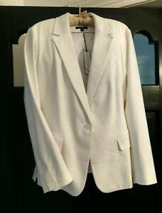 NWT $80 Lane Bryant Sz 24 Modernist Collection White Lined Blazer GORGEOUS!