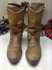 DISTRESSED VINTAGE RED WING USA BROWN LEATHER WESTERN RANCH TRACTOR BOOTS 10 E