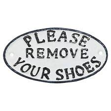 Veuillez retirer vos chaussures en fonte signe plaque porte mur chambre mur porte