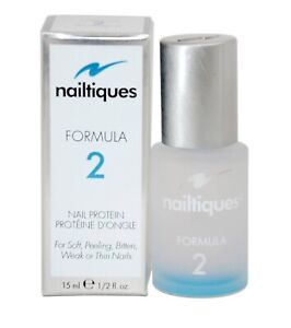 Nailtiques Nail Protein Formula # 2, 0.50 fl oz, 15 ml Large Bottle Brand New