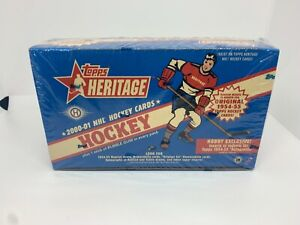 2000-01 Topps Heritage Hockey Hobby Box - Original Six Relics Jersey Autographs