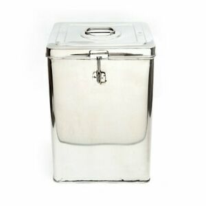 Stainless Steel Canisters Grocery Storage Dabba 3L Tin Pipa Box Food Grain Cane