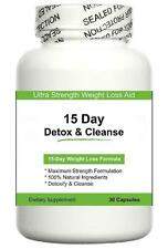 15 DAY DETOX & CLEANSE DIET PILLS FAT BURNING AID WEIGHT LOSS TABLETS CLEANSER 1