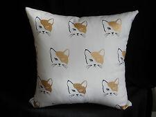 Black White Gold Cat Faces Feline Cushion Cover 45CM Cat Lover Gift Au handmade