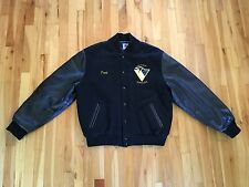 Pittsburgh Penguins Amateur Ice Hockey Varsity Jacket Sz L Rennoc - Leather/Wool