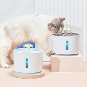 2.4L Automatic Electric Pet Water Fountain Cat Dog Drinking Dispenser Bowl New