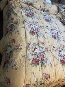 Ralph Lauren Yellow Floral Kathleen Comforter King