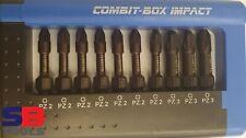 WITTE IMPACT BIT SET PZ2 & PZ3 COMBIT-BOX IMPACT RATED POZI BIT SET