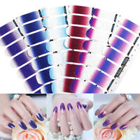 Nail Wraps Mixed Glitter Gradient Nagel Kunst Self-adhesive Transfer Stickers