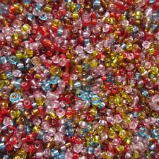 3,000pcs  2mm Seed Beads in 22 Colours For Crafts Jewellery Making Fast Delivery