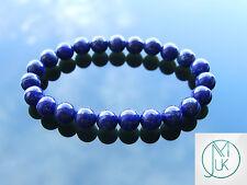"""I Lapislazzuli Naturale Gemstone Braccialetto Con Perline 7-8"""" elasticizzati guarigione chakra"""