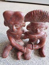 Figuras de cerámica antigua Nayarit sentado par-c.250BC-250AD