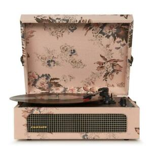 Record Player in Vintage Floral w/ 3-speed Turntable Bluetooth, Portable