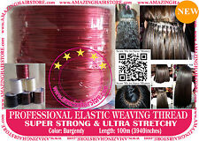 100M Brazilian Knot Hair Extension Ultra Stretchy Elastic Weaving Thread-6 Color