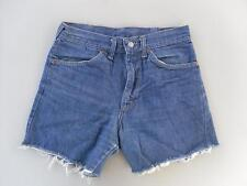 """LEVIS BLUE VINTAGE WOMENS GIRLS LADIES DENIM SHORTS HOT PANTS JEANS = 28"""" Waist"""
