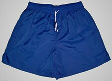 High Five Blue Plain Nylon Soccer Shorts - Men's 2XL
