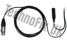 Cable for Heil microphones 3 pin XLR to 8p8c RJ45 Kenwood TS-480 TM-D710E etc