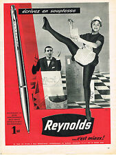 PUBLICITE ADVERTISING  1960   REYNOLDS  stylo bille