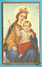 1930's Mary QUEEN Of PEACE Vintage Catholic Holy Card REGINA PACIS by NEALIS