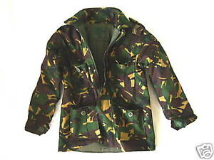 BOYS 9-10 years CAMO PADDED SOLDIER JACKET Military combat coat army green DPM