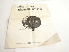 KMart No. 55 Automatic Fly Freshwater Fishing Reel Instruction Manual Booklet