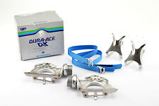 New Shimano Dura-Ace AX #pd-7300 Pedals including Toeclips and Straps NOS Neuf dans sa boîte