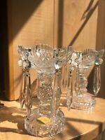 Bleikristal West Germany Crystal Bobeche Candlestick Holders