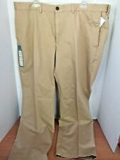 HAGGAR~Natural Khaki STRAIGHT FIT Work to Weekend PANTS~Men's 42x30~NWT