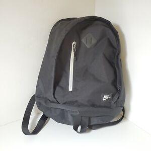 Nike Backpack Sports Bag Small 2 Pocket Size EUC RN#56323 Black w Grey Interior